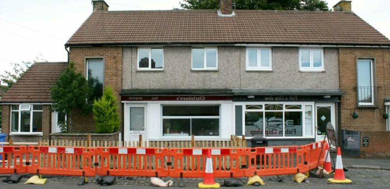Fed-up local builds 4ft fence outside his home to stop people sitting on his windowsill to eat their fish and chips