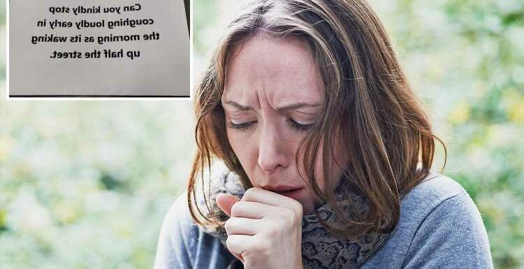 Fuming resident told 'stop COUGHING' in bizarre note left by neighbour on his car
