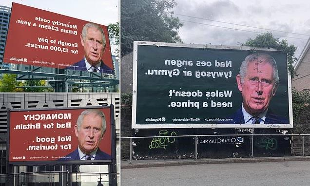 Fury as anti-monarchy billboards appear in Cardiff and Swansea