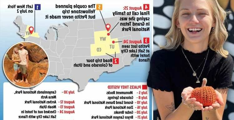 Gabby Petito timeline – YouTuber vanished on road trip as Instagram reveals the places she visited with Brian Laundrie