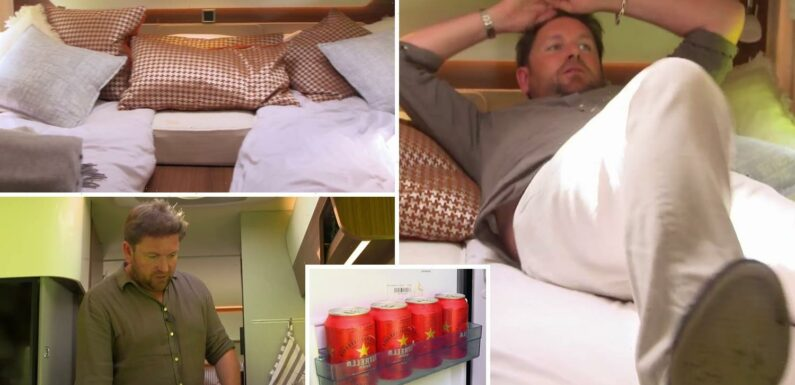 Inside This Morning chef James Martin's 'millionaire motorhome' stacked with beer and super king bed