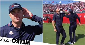 Justin Thomas downs beer on first tee as USA dominate Europe in Ryder Cup
