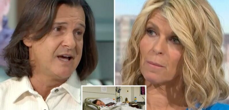 Kate Garraway looks emotional as Dame Barbara Windsor's husband says he 'respects and admires' her being Derek's carer