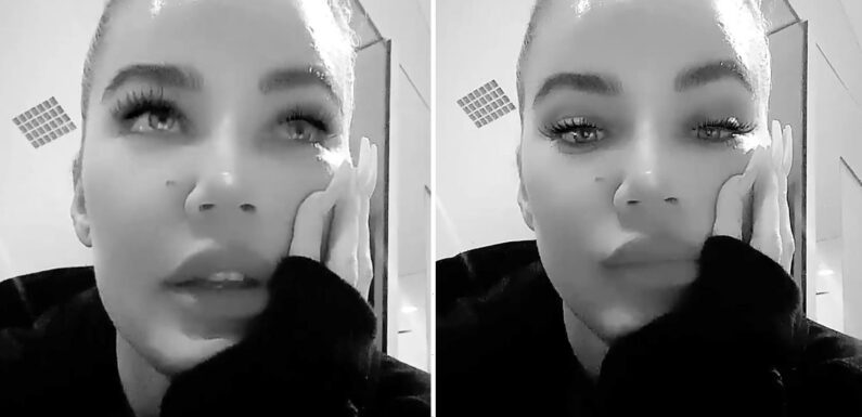 Khloe Kardashian looks unrecognizable in filtered video during early morning gym workout