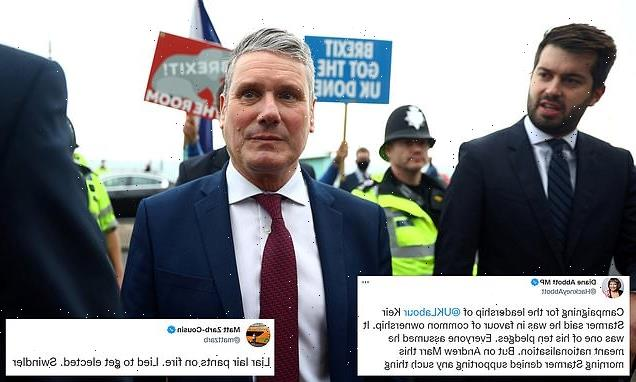Left-wingers accuse Keir Starmer of breaking nationalisation vow