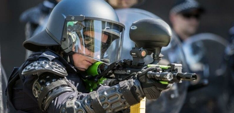 Pepper balls and stinger grenades: The weapons police are using against demonstrators