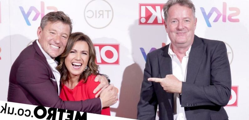 Piers Morgan giddy as he reunites with Susanna Reid and ex-GMB co-stars