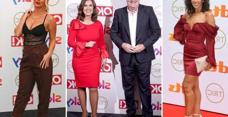 Piers Morgan reunites with Susanna Reid for the first time since leaving GMB as they lead stars at Tric Awards