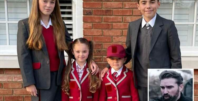 Sacked SAS star Ant Middleton shares rare picture of his children as they head back to school