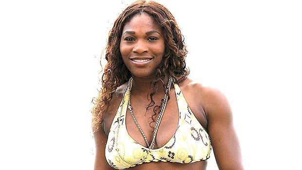 Serena Williams Walks Along The Beach In White Bikini & Animal Print Coverup For 'Work-cation'  Photos
