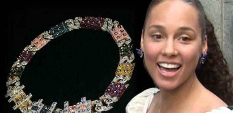 Swizz Beatz Gifts Alicia Keys Pricey LEGO-Themed Link Chain