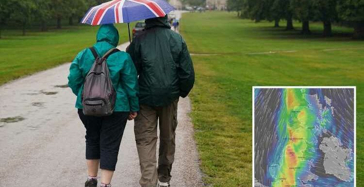 UK weather: Seven days of rain ahead with 'intense' downpours & thunder to sweep Britain as heatwave ends with a bang