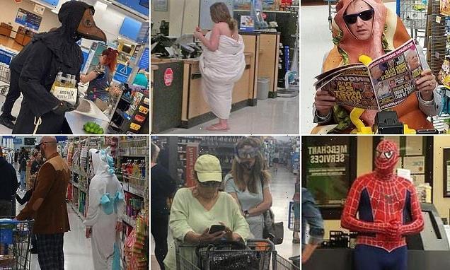 Walmart customers wearing the strangest things