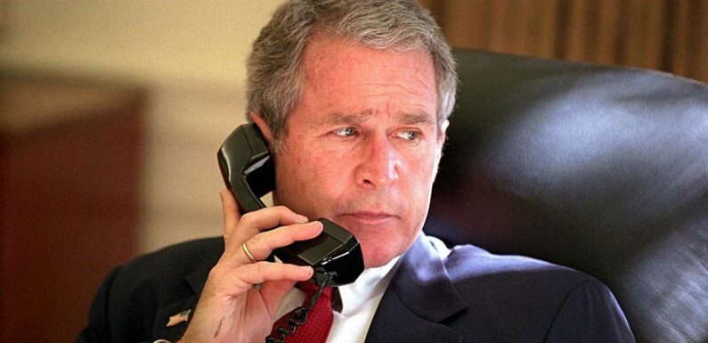 What did George Bush do on the day of the 9/11 attacks?