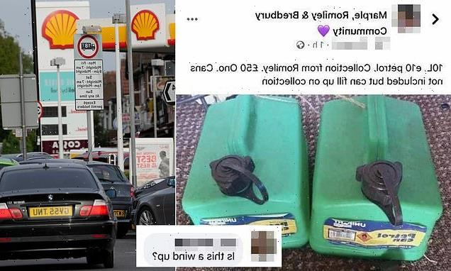 Woman sparks outrage for trying to sell10 litres of petrol for £50