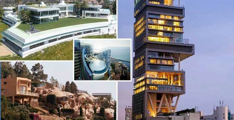 World's most expensive homes from bizarre Teletubby-style 'bubble' palace to high-tech mansions