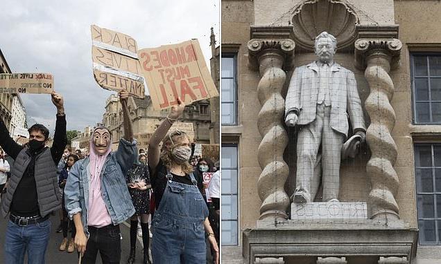 Academics accuse Oxford's Oriel of depicting Rhodes as 'devil'