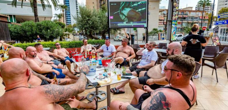 Brits back with a bang in Benidorm as tourists pack out resort's famous bars after Covid travel rules eased