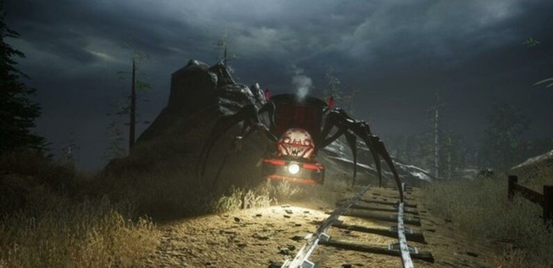 """Demon spider train in Choo Choo Charles """"great way to ease constipation"""""""