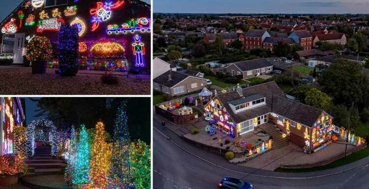 Family cover entire house in jolly Christmas decorations – despite it being more than TWO MONTHS until big day