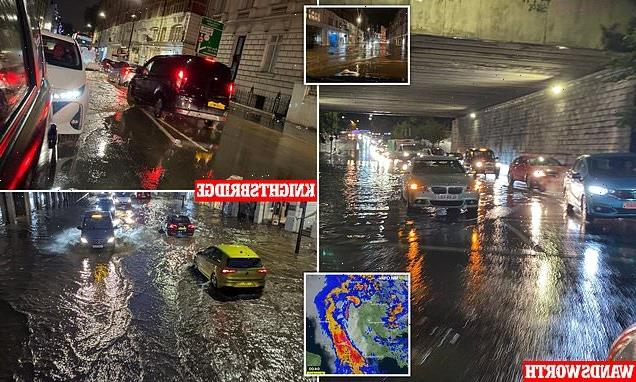 Flooding causes rush hour chaos as Met Office warns of heavy downpours