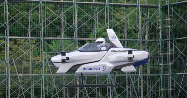 Flying cars could be in the skies within four years as Japan launches air taxis