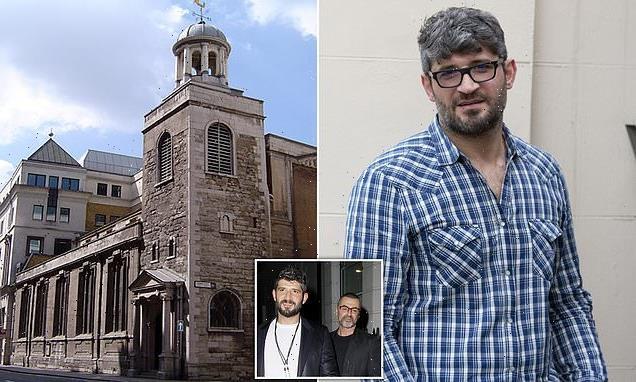George Michael's ex Fadi Fawaz, 45, is fined £420 for church graffiti