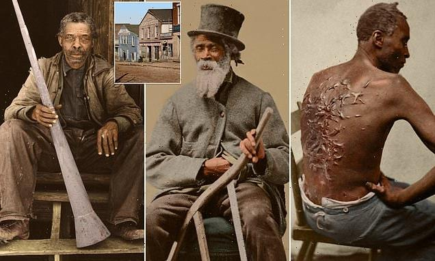 Harrowing 19th century images of US slaves colorized for first time