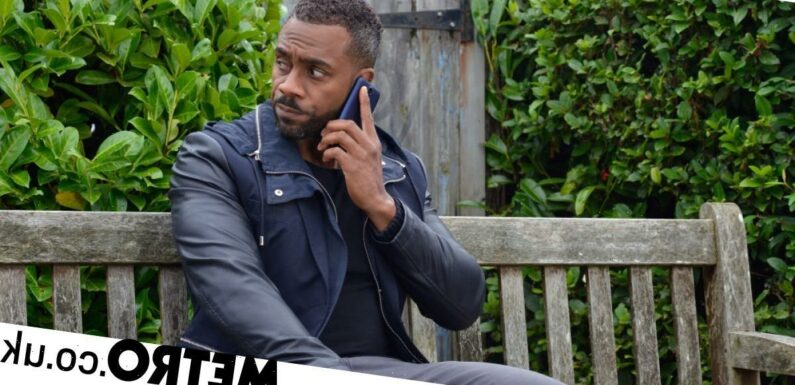 Hollyoaks' Richard Blackwood reacts to Vincent's death in EastEnders