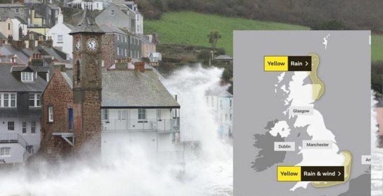 Hurricane Sam path: Hurricane remnants trigger nine-hour weather warning for UK