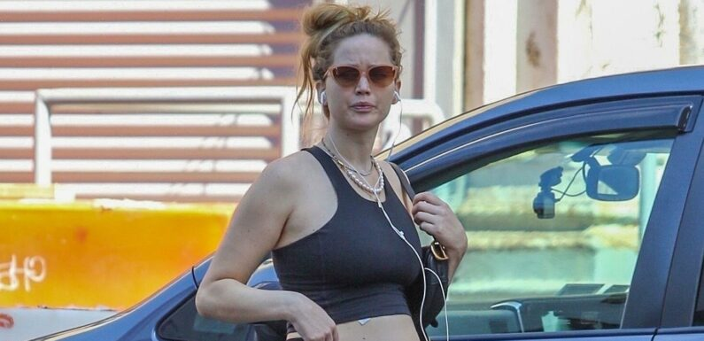 Jennifer Lawrence Wore These Controversial Sandals as Part of a Sporty Pregnancy Look