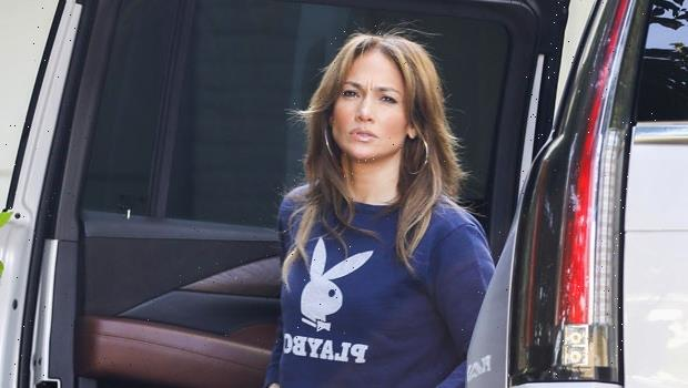 Jennifer Lopez Rocks 'Playboy' Sweatshirt Heading To Breakfast With Twins Max & Emme, 13 — Pics