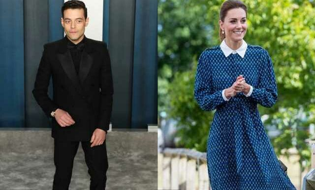 Kate Middleton Caught Off Guard by Rami Malek's Questions