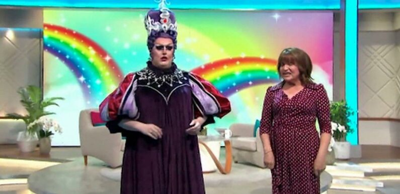 Lorraine storms on set as Drag Races Lawrence Chaney starts show without her