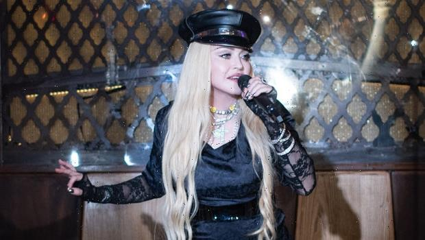 Madonna, 63, Sizzles In High Slit Black Dress For Late Night NYC Performance – Photos