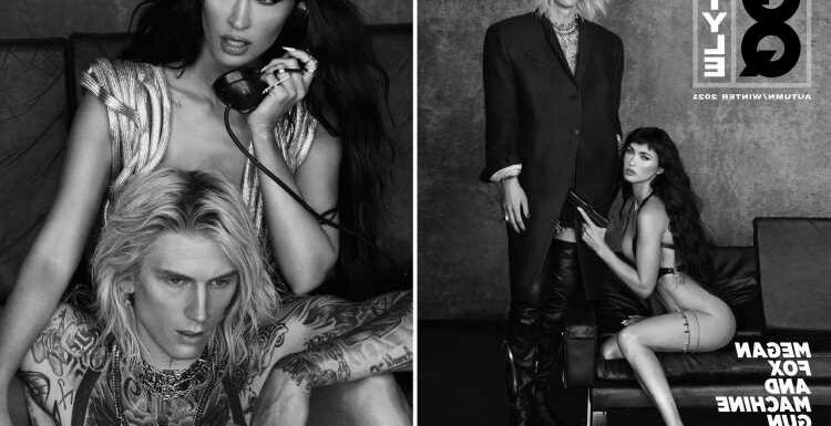 Megan Fox goes completely nude and points a GUN at boyfriend Machine Gun Kelly in raunchy GQ photoshoot