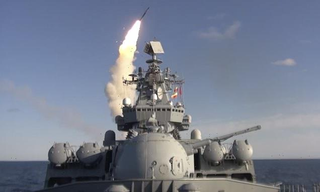 Russian warships stage show of strength off of Japan