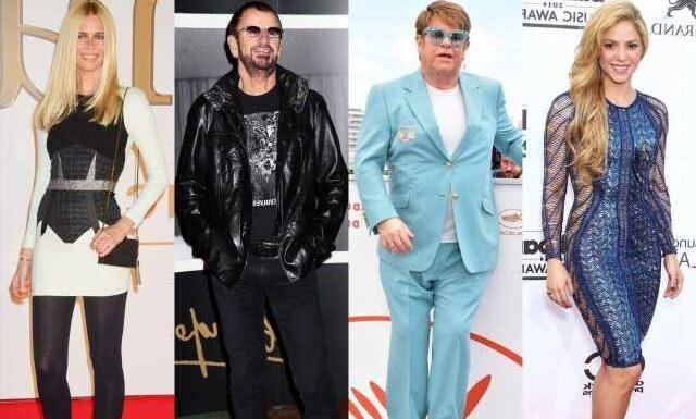 Shakira, Elton John, Ringo Starr, Claudia Schiffer Among the Rich Named in Pandora Papers Scandal