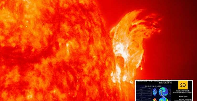 Solar storm hitting Earth TODAY could cause Northern Lights – and play havoc with power grid