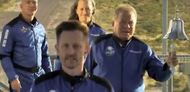 Star Trek star William Shatner, 90, becomes oldest man to venture to space