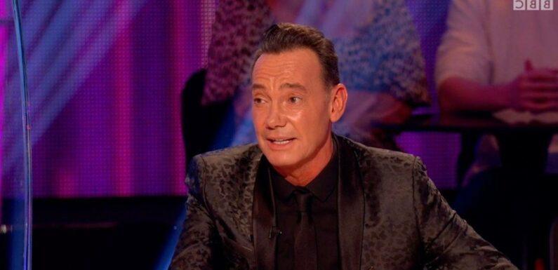 Strictlys Craig Revel Horwood tells off new judge Anton for missing mistake