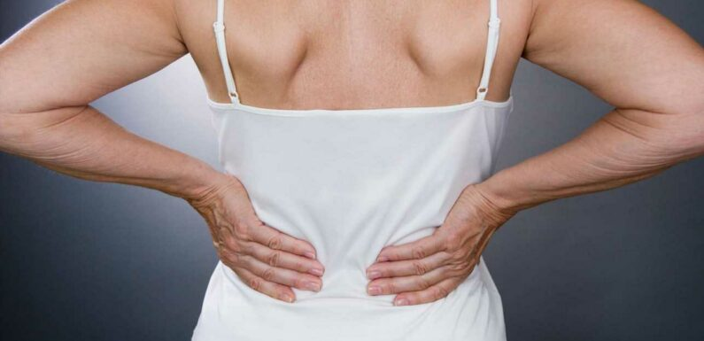 Suffering with lower back pain could be an early sign of incurable condition