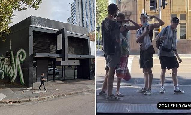 Tattoo studio mocks teenagers flexing in front of their tinted windows