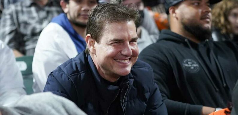 Tom Cruise looks like a whole new person at baseball game