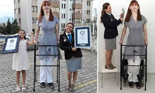 Turkish woman, 24, standing over 7ft is named world's tallest woman