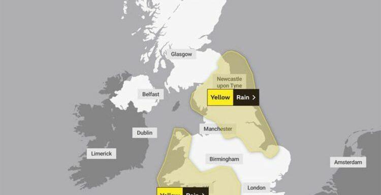 UK weather LIVE: Ex-hurricane Sam barrels to Britain with heavy rain and warm temperature