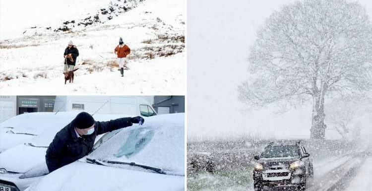 UK weather: Snow could hit in just 3 weeks as White Halloween brings worst storm in 13 YEARS as 'polar vortex collapses'