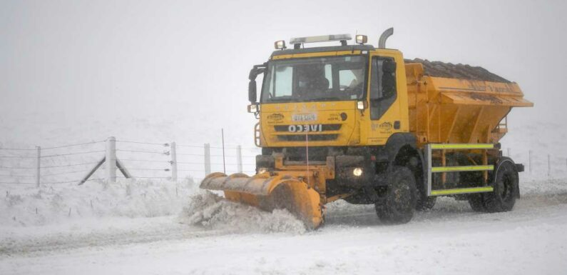UK weather: Snow to blanket Britain in November as 'polar vortex collapse' sends temperatures PLUMMETING