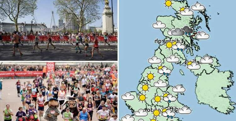 UK weather: Sunshine forecast for London Marathon before thunderstorms and HAIL this afternoon